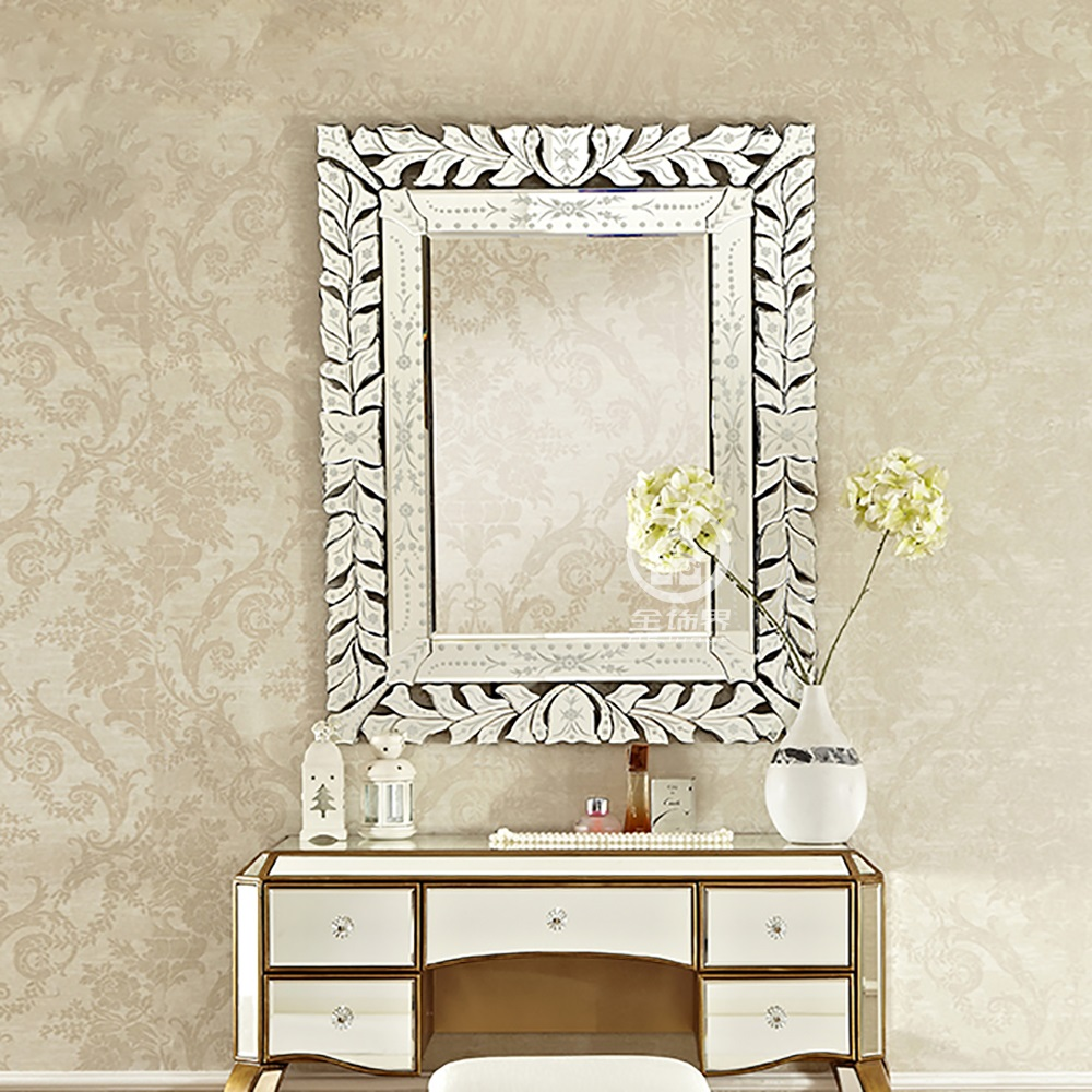 Us 318 5 9 Off Modern Wall Glass Mirror Venice Wall Decorative Mirrored Art Rectangle Venetian Mirror Vanity Console Mirror M F2095 In Decorative