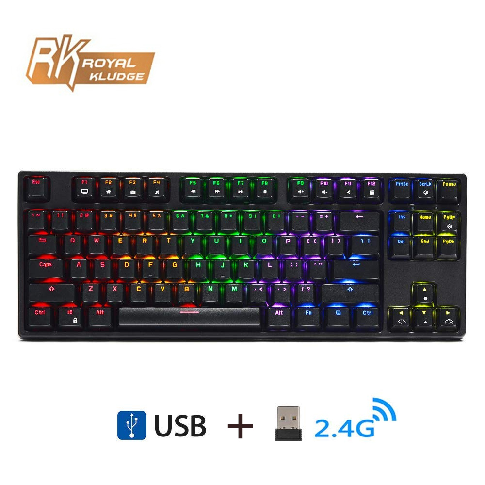 RK Sink87G Wireless Mechanical Gaming Keyboard Blue Brown Switch ROYAL KLUDGE 2 4G RGB LED Backlight