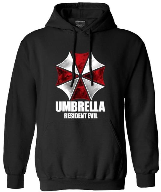 Resident Evil Umbrella loose Printed Mens Men sewatshirt Masculinas 2017 autumn fashion long sleeve hoodies hooded drake suit
