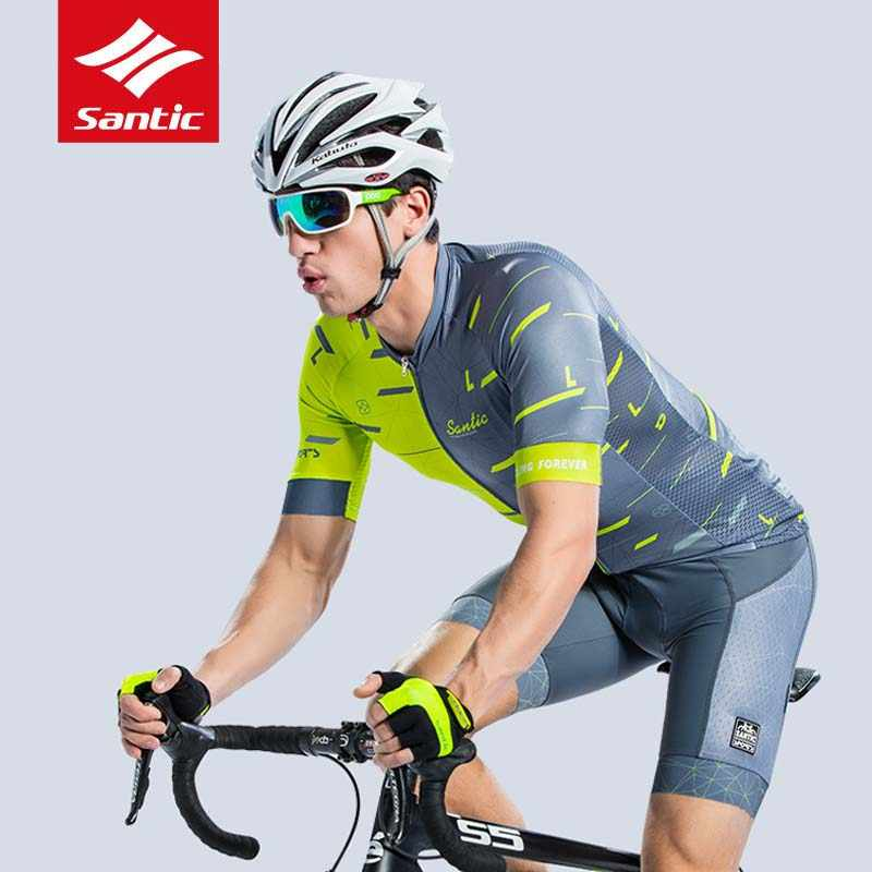 f833cd32ddb ... Santic Men Cycling 4D Padded Bib Short Summer Pro Fit Shorts MTB Road Bike  Riding Bib