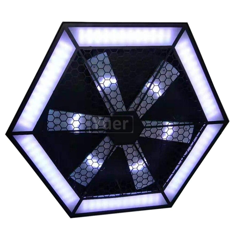 2 шт./лот современный Декор лампы 200 Вт светодиодный вентилятор эффект света светодиодный подвесной настенный светильник Бар KTV DJ диско микро освещение поворотной сцены - 3