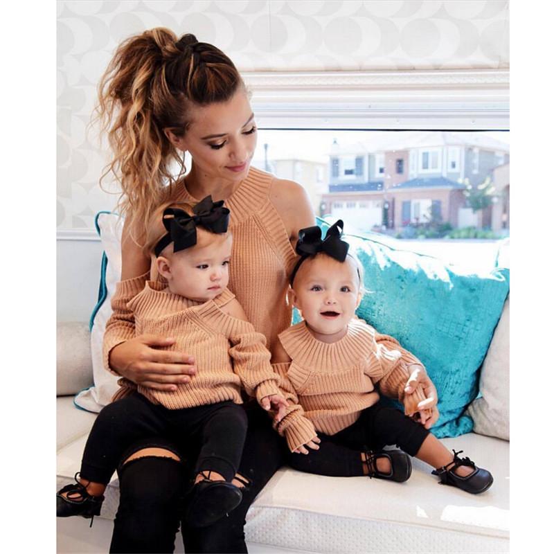 fc4663c6a pudcoco Newest Arrivals Hot Mom Baby Long Sleeve Knitwear Jumper ...