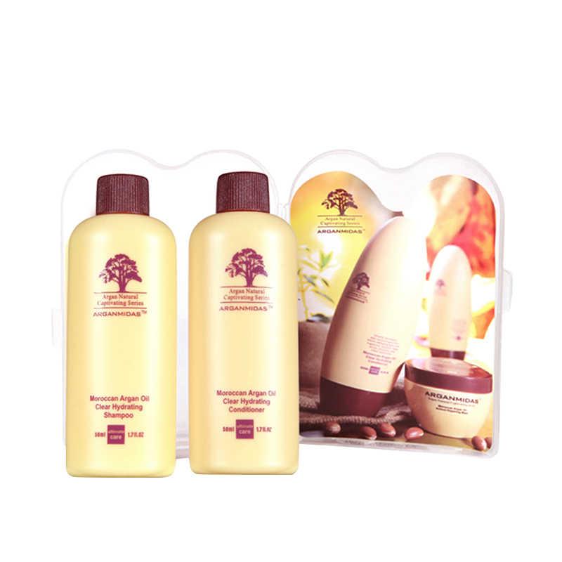 ¡Gran oferta! Juego de Mini champú y acondicionador para el cabello de aceite marroquí de 5 uds. De 100ml, Kit de viaje para el tratamiento del cabello, Envío Gratis