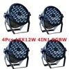 4xLot LED Par Light 18x12W 4in1 RGBW EU US Plug 8CH LED Par64 DMX Stage Effect