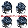 4xLot LED Par Light 18x12W 4in1 RGBW EU US Plug 8CH LED Par64 DMX Stage Effect