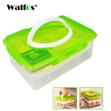 WALFOS ei rack halter 24 Grid Ei Box Lebensmittel Behälter Organizer Bequem Lagerung Boxen Doppel Schicht Durable Schärfer