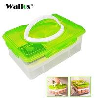 WALFOS ei rack halter 24 Grid Ei Box Lebensmittelbehälter Organizer Bequem Aufbewahrungsboxen Doppelschicht Durable Schärfer
