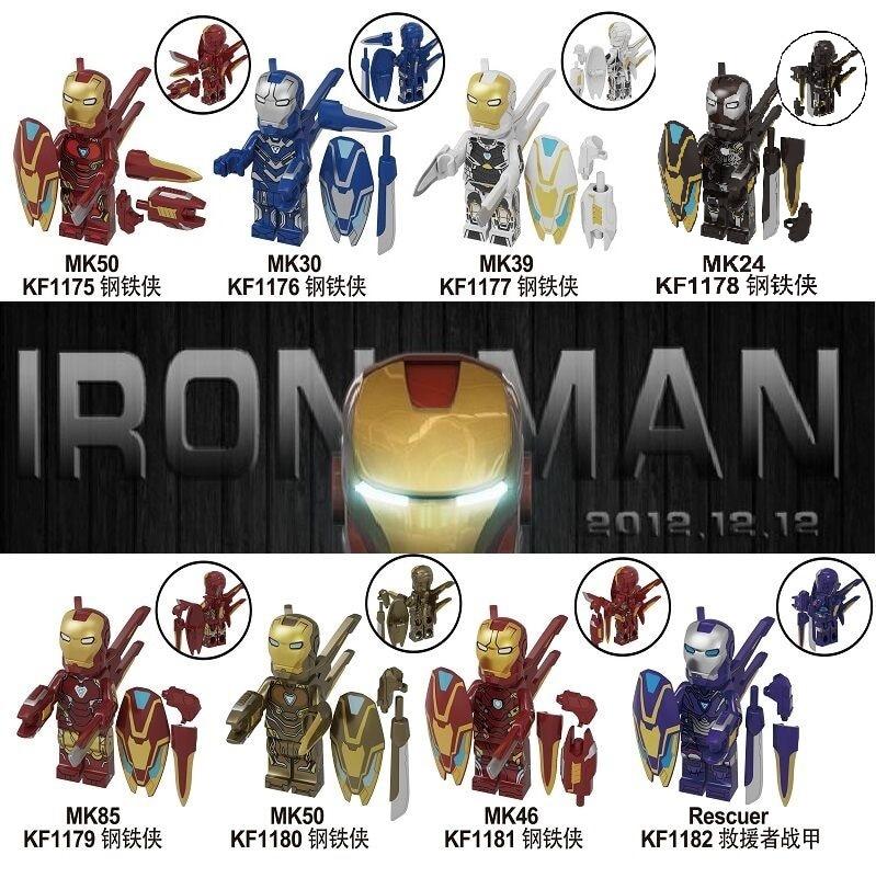 50Pcs Groothandel Bouwstenen Super Heroes Bricks Iron Man Mark 50 30 39 24 85 Poppen Redder Cijfers Voor kinderen Speelgoed KF6093-in Blokken van Speelgoed & Hobbies op  Groep 1