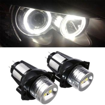 2 Pcs LED Marker for BMW E90 E91 Angel Eyes LED Side Light Bulb White 20W 2006 - 2008 3 Series E90 E91 Seadon Wagon Headlights image