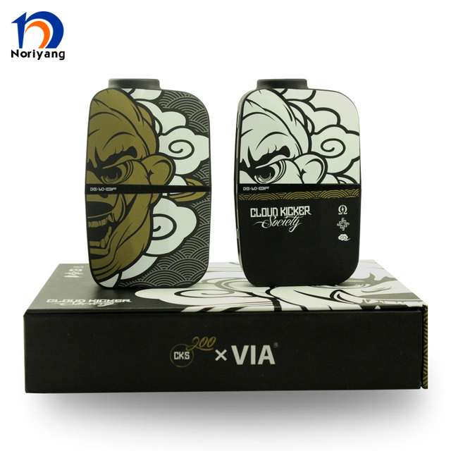 100% Original CKS ÍCONE 200 W Box Mod Projeto Original Preto/Branco CKS 200 w Caixa Mod E TC Cigarret de Noriyang