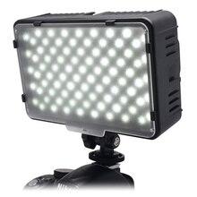 Mcoplus 168 LED الفيديو الضوئي كاميرا التصوير لوحة الإضاءة 5600K لكانون نيكون سوني فوجي فيلم الرقمية