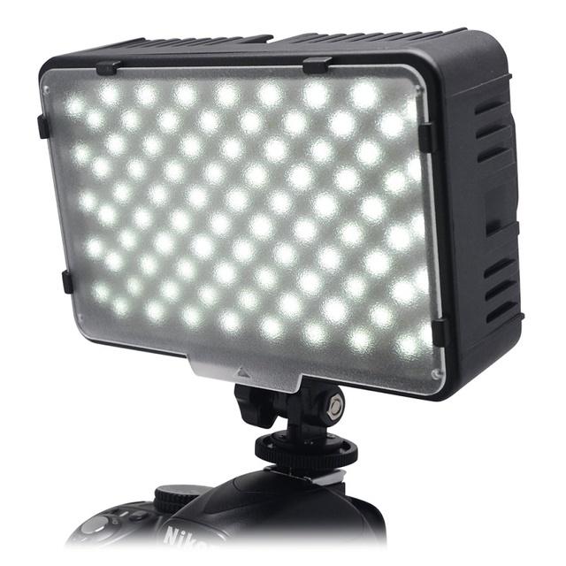 Mcoplus 168 luz de vídeo led en la cámara fotográfica fotografía panel de iluminación para canon nikon sony videocámara de la cámara dv vs cn-160