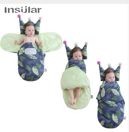 2019 Winter Warm Newborn Babies Sleepsacks Robe For Infants Envelope Swaddle New Insular Baby Stroller Sleeping Bags Soft Cotton