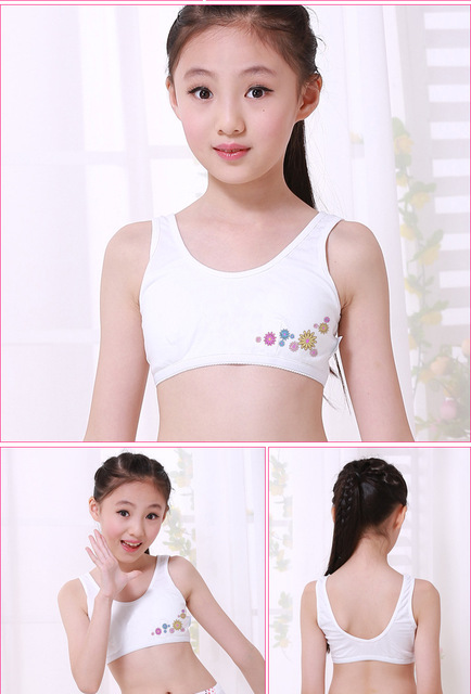 f5f13280b2616 10 PCS Students Underwear Cotton Sweet Girls Preteen Underwear Teen Bra  Developing Girl s Bra Cotton Crop For Student