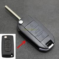 10 Pcs Key Case for CITROEN C4 C5 TRIOMPHE QUATRE Car Key 3 Buttons Blank Groove Hu83 Blade Modified Car Key Shell Cover