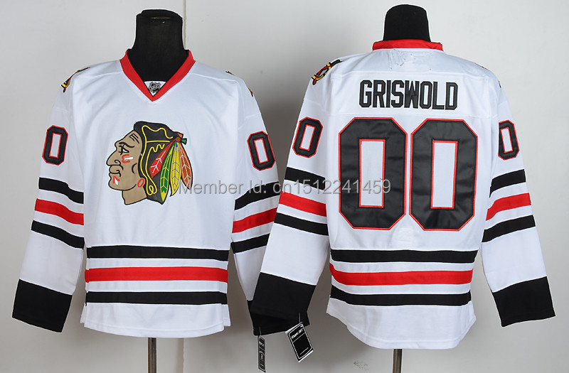 Free Shipping Authentic Chicago Blackhawks Jerseys 00 Clark Griswold Jersey  Cheap Ice Hockey ... fceadc107