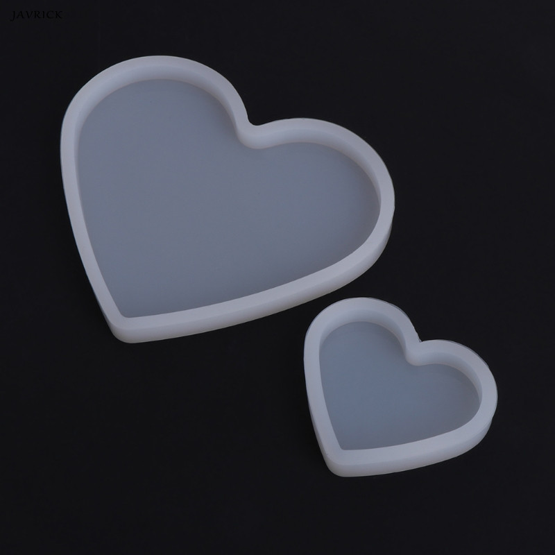 JAVRICK Resin Transparent Silicone Mold Heart Shape Epoxy Resin DIY Jewelry Making Crafts Great for DIY tools Decorations стоимость