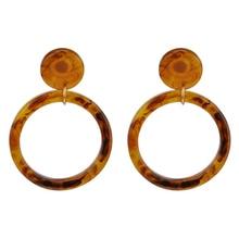 Фотография Ojshang 2017 New Round Acrylic Earrings Women Fashion Leopard Drop Earrings For Wedding Jewelry Wholesale