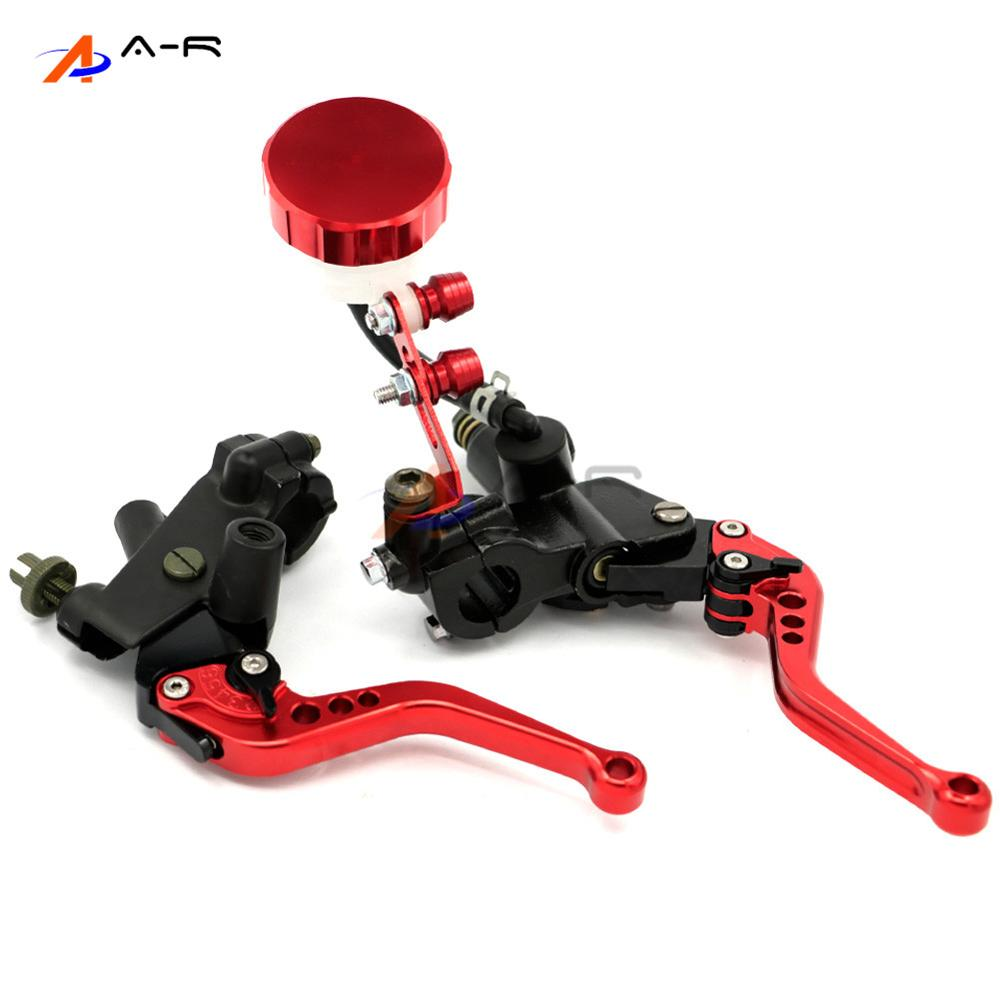 7/8 inch 22MM  Brake Clutch Levers Master Cylinder Fluid Reservoir Adjustable CNC for Yamaha YZF R1 R6 R6S MT01 MT03 MT07 MT09 6 colors cnc adjustable motorcycle brake clutch levers for yamaha yzf r6 yzfr6 1999 2004 2005 2016 2017 logo yzf r6 lever