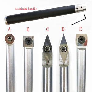 Image 2 - 1PC Wood Turning Tool Chisel Changeable Tungsten Titanium Tip Lathe Tool Insert Cutter Optional  Aluminum Handle Turning Tool