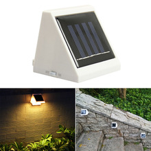 New Garden Lighting Solar Powered Outdoor 2 LED Pathway Stairway Landscape White Light Lamp Bright E2shopping CLH
