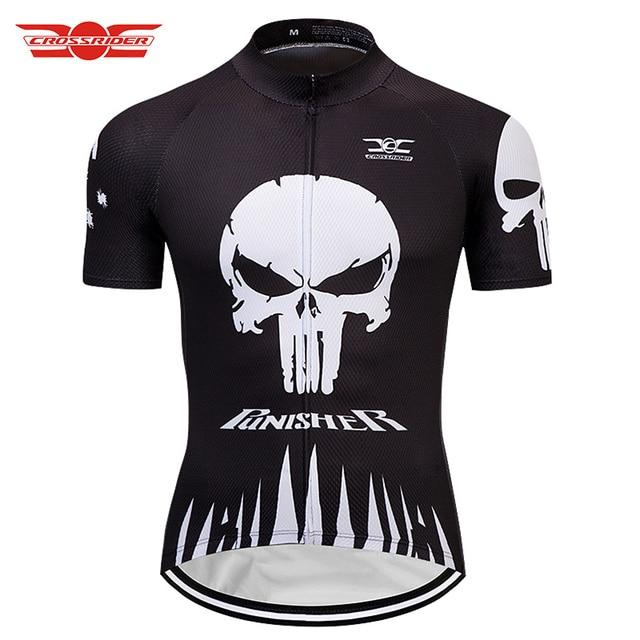 Crossrider 2018 SKULL Cycling Jerseys Mtb bicycle clothing shirt Bike Wear  Clothes Short Maillot Roupa Ropa De Ciclismo db0e37765