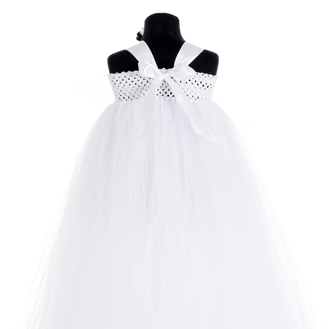 Adorable Baby Ghost Costume White Black Cute Girl Ghost Cosplay Tutu Dress With Headband For Children Kids Halloween Christmas