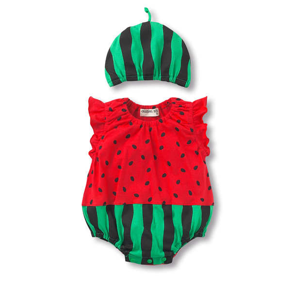 Watermelon baby bodysuit+hat Baby Boy Girl Summer Strawberry fruit animal Cotton Jumpsuit Infant Toddler ladybug sharp CostumesWatermelon baby bodysuit+hat Baby Boy Girl Summer Strawberry fruit animal Cotton Jumpsuit Infant Toddler ladybug sharp Costumes