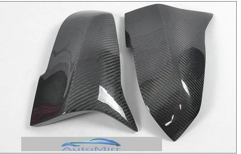 KIBOWEAR for BMW X1 F23 F31 F32 F33 F36 F20 F30 Side Mirror Cover Caps replace ( M3 style ) Carbon Fiber 1 2 3 4 series CF цена
