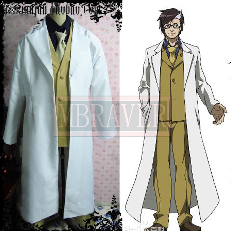 Akame ga Kill! Dr. Stylish Cosplay Costume Any Size