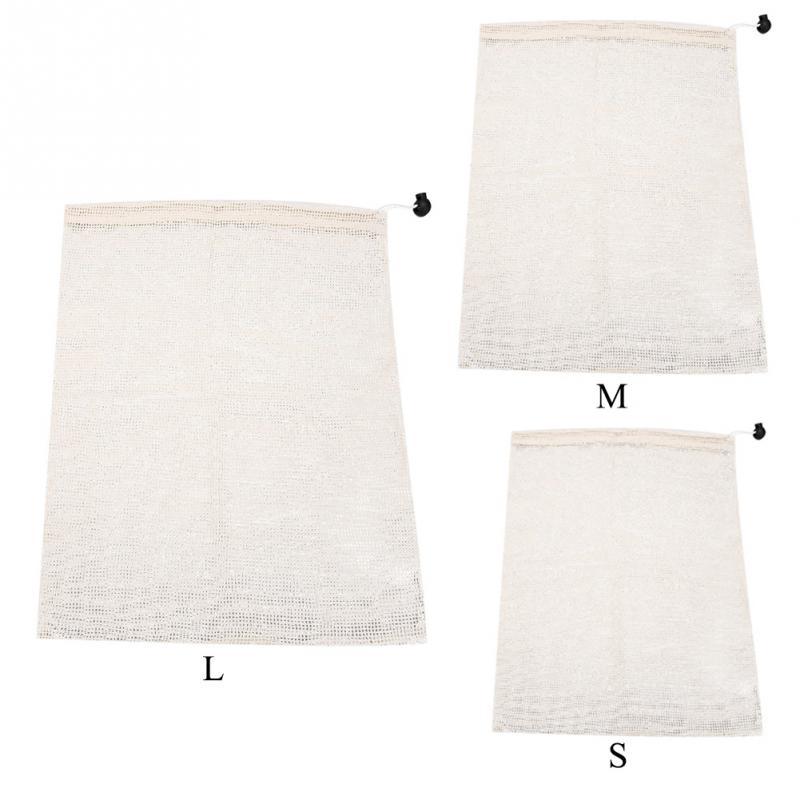 Natural Cotton Mesh Bags Lightweight Fruit Vegetable