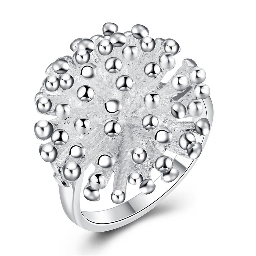 Ball Coral Tree Sea Like The Sunshine Silver Color Viking Bulk Rings For Women Wedding Engagement
