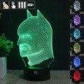 Batman 3D Night Light RGB Mutável Lâmpada de Humor e LEVOU Luz dc 5 v usb candeeiro de mesa decorativo obter um free remoto controle