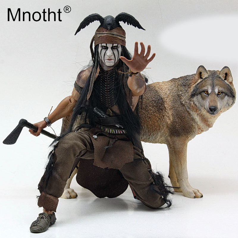 Mnotht Animal-Sculpture Model Collections-Toy Action-Figure Wolf Resin for 12in Coyote