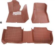 Personalizar para jetta Lavida santana MAZDA 6 3 coser alfombras de cuero alfombras del piso del coche alfombra alfombras de auto mat antideslizante pie de cc