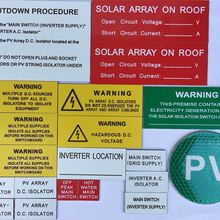 Labels Adhesive Engraved Stable Best Solar UV Latest 3M Rigid Australian