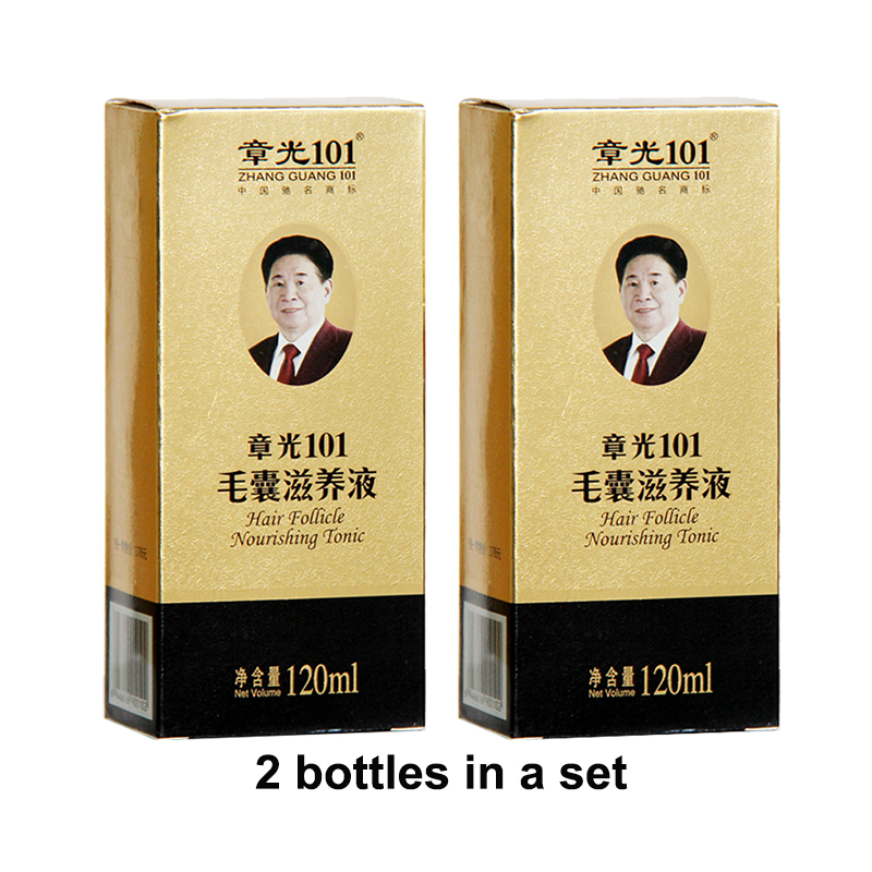 Zhangguang <font><b>101</b></font> <font><b>Hair</b></font> follicle nourishing tonic 2 pieces 2x120ml <font><b>Hair</b></font> Regain Tonic <font><b>Hair</b></font> Treatment Regrowth <font><b>101</b></font> <font><b>hair</b></font> 100% original image