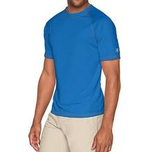 Новинка, Мужская футболка для рыбалки, Мужская футболка с коротким рукавом UPF50, быстросохнущая, легкая, для пеших прогулок, спортивная рубашка, размеры США, s-xl, серая