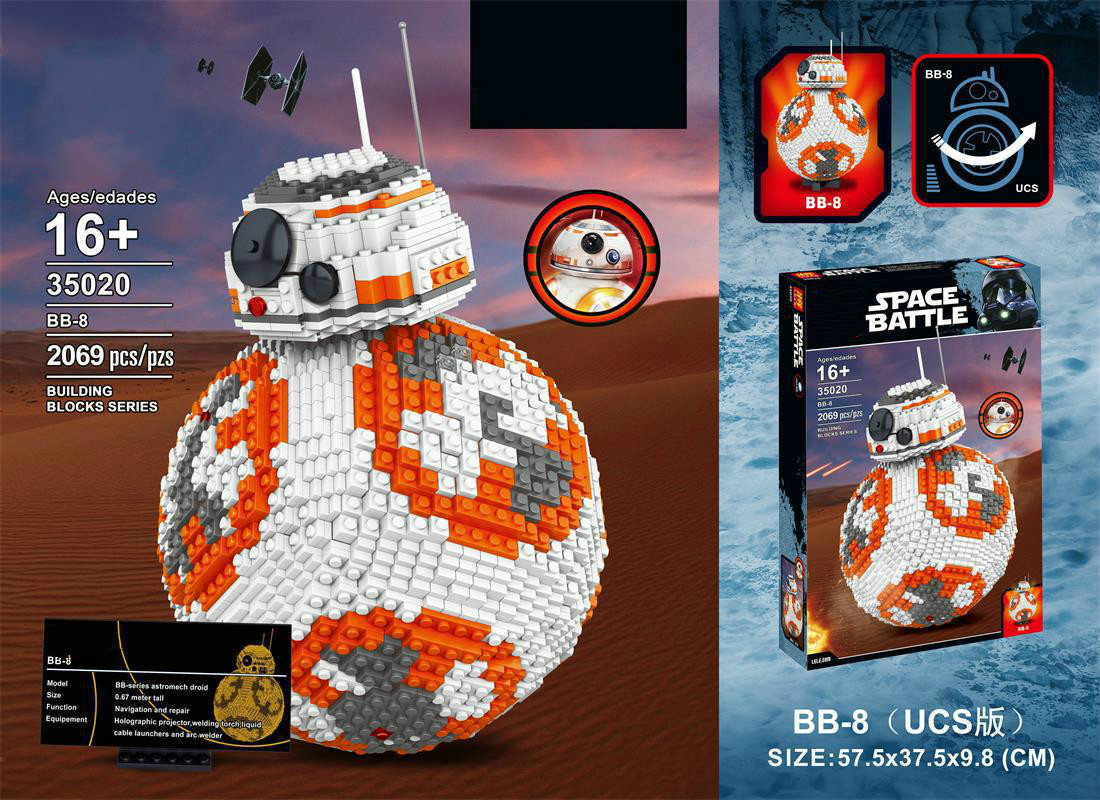 Star warfare UCS series the BB8 model Building set Classic astromech droid 35020 compatible 05033 Toys lepin ws 66 1 статуэтка мольер 856313