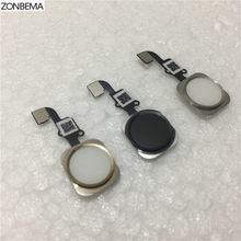 ZONBEMA кнопка домой с гибким кабелем лента в сборе для iPhone 6 6S Plus Запасная часть