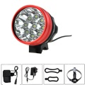 15000 Lumen 9T6 Bike Light Headlamp 3 Modes with 6400mah 18650 Battery Pack and Charger 9*Cree XM-L T6 Front Bicycle Flash Light