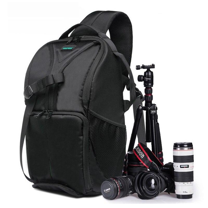 Новый Открытый SLR DSLR Камера рюкзак профессиональный Водонепроницаемый Камера мешок большой Ёмкость для Камера объектива и штатив.