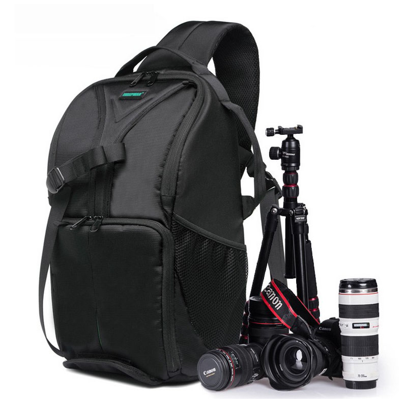 New Outdoor SLR DSLR Camera Backpack Professional Waterproof Camera Bag Large Capacity For Camera Lens and Tripod. new large capacity waterproof photography camera video bag dslr camera backpack camera photo bag for nikon canon slr camera lens