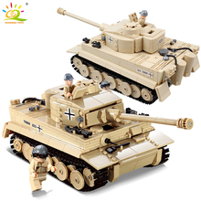 Huiqibao 995 шт. военные Пособия по немецкому языку King танк тигр строительные блоки, совместимые legoed армии WW2 солдат оружие Кирпичи Детские игрушки