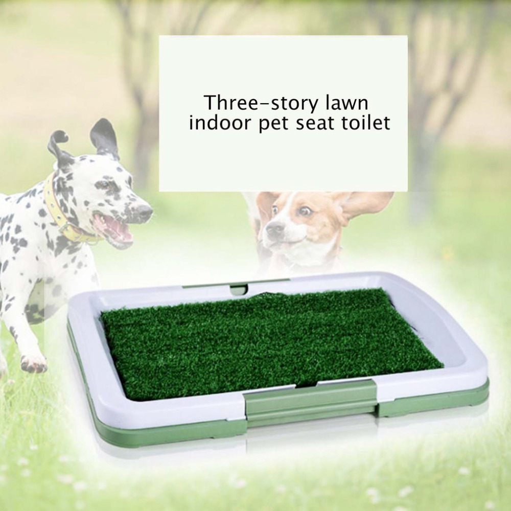 3 strati di Grande Cane Pet Potty Training Pee Pad Zerbino Cucciolo Vassoio Erba Wc Simulazione Prato Per Interni di Formazione Vasino di animali da Compagnia