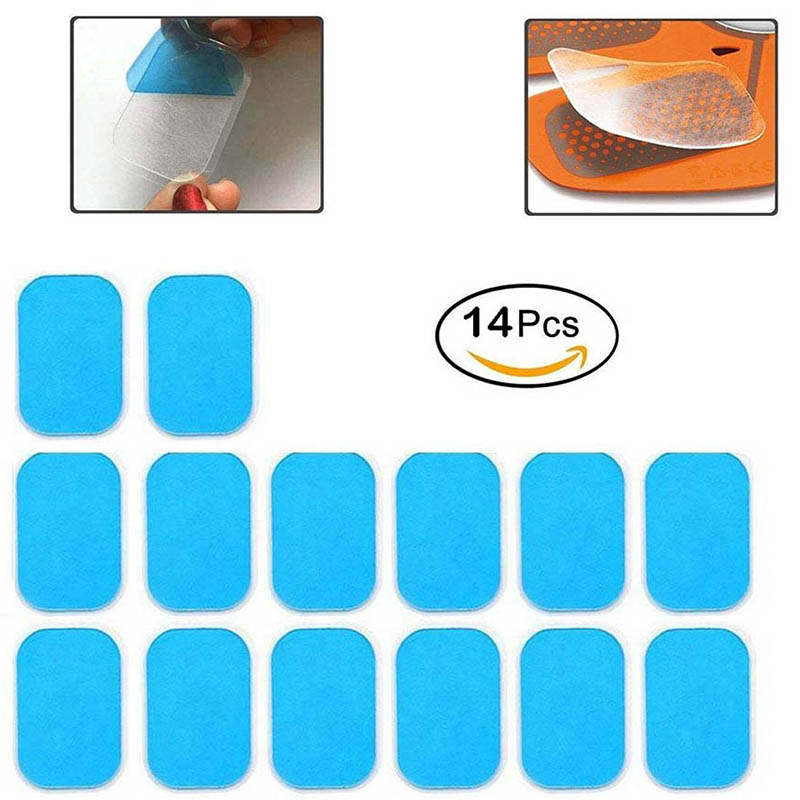 14Pcs Replacement Gel Pads Sheet Abdominal Belt Toning Muscle Toner ABS Stimulator Hydrogel Pads Sticker AB Trainer Accessories