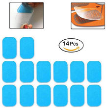 14Pcs Vervanging Gel Pads Vel Abdominale Riem Toning Spier Toner ABS Stimulator Hydrogel Pads Sticker AB Trainer Accessoires(China)