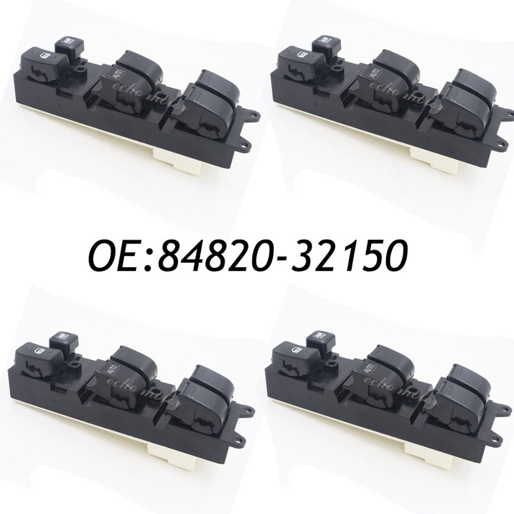 4PCS 84820-32150 For 1989-1995 Toyota Camry Land Cruiser Power Window Master Control Switch 84820-33060,8482033060,8482032150