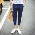 Para hombre más tamaño pantalones casuales pantalones hasta los tobillos