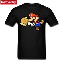 Последние Для мужчин футболки Супер Марио игра короткий рукав 100% хлопок футболка с круглым вырезом для мужчин футболка